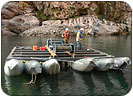 cross marine pneumatic lift barge