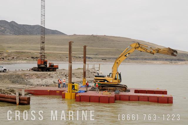 Great Salt Lake Tresle Salvage Barge