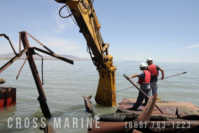 Lake Seismic Survey Tower Removal