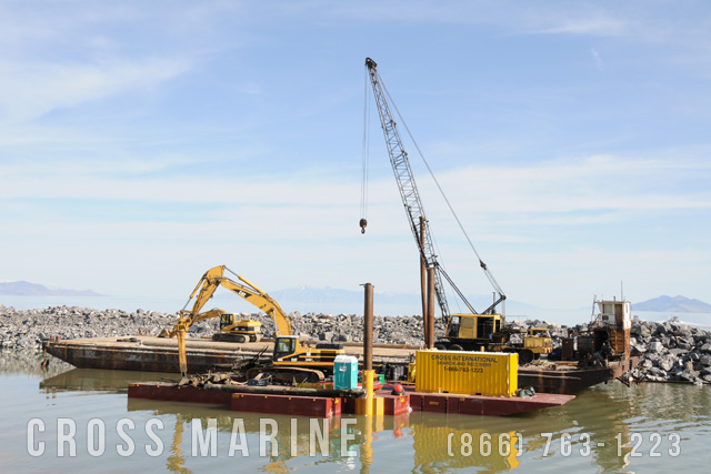 Submerged Piling Removal Barge