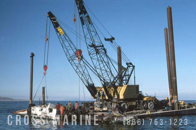 Sunken Hydraulic Dredge Salvage