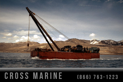 Inland Lake Marine Salvage Barge