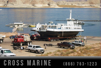 Transporting Large Lake Ferry Vessel